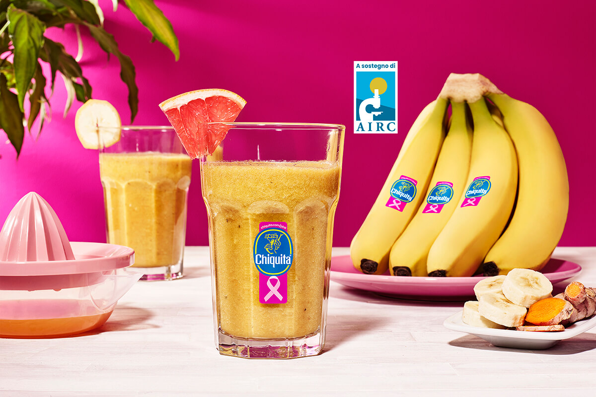 Frullato alla banana Chiquita con pompelmo e zenzero
