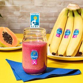 Frullato alla banana Chiquita con Papaya